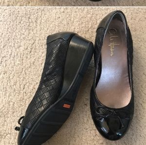 Cole Haan Black wedges 6.5
